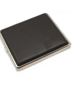 Cigarette Case Leather Dark Brown King Size