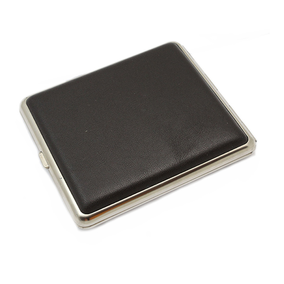 Cigarette Case Leather Dark Brown King Size
