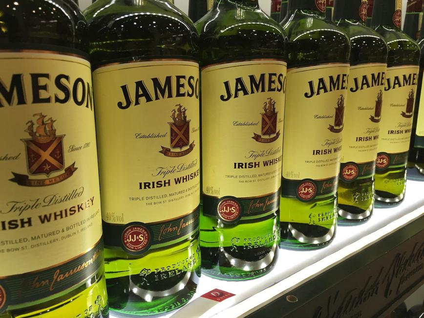 Jameson whiskey bottles