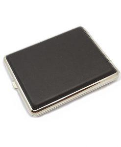 Cigarette Case Leather Dark Brown Super King Size