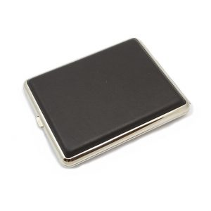 Cigarette Case Leather Dark Brown Super King Size