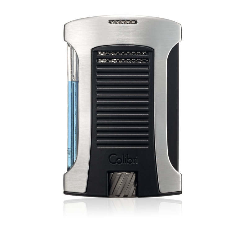 Colibri Daytona Single-Jet Flame Lighter – Brushed Chrome