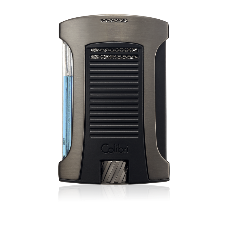Colibri Daytona Single-Jet Flame Lighter – Brushed Gunmetal