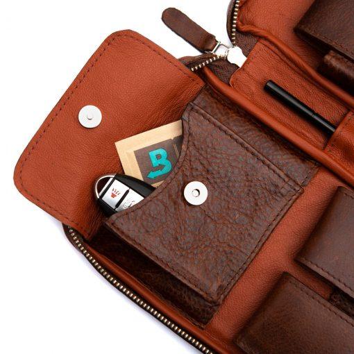 Peter James Koral Aficionado Leather Cigar Case