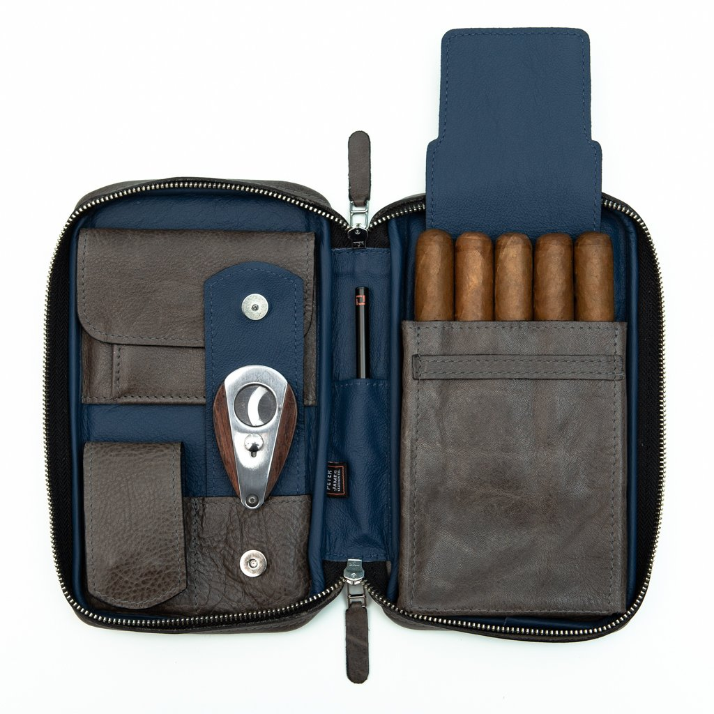 Peter James Oceana Aficionado Leather Cigar Case