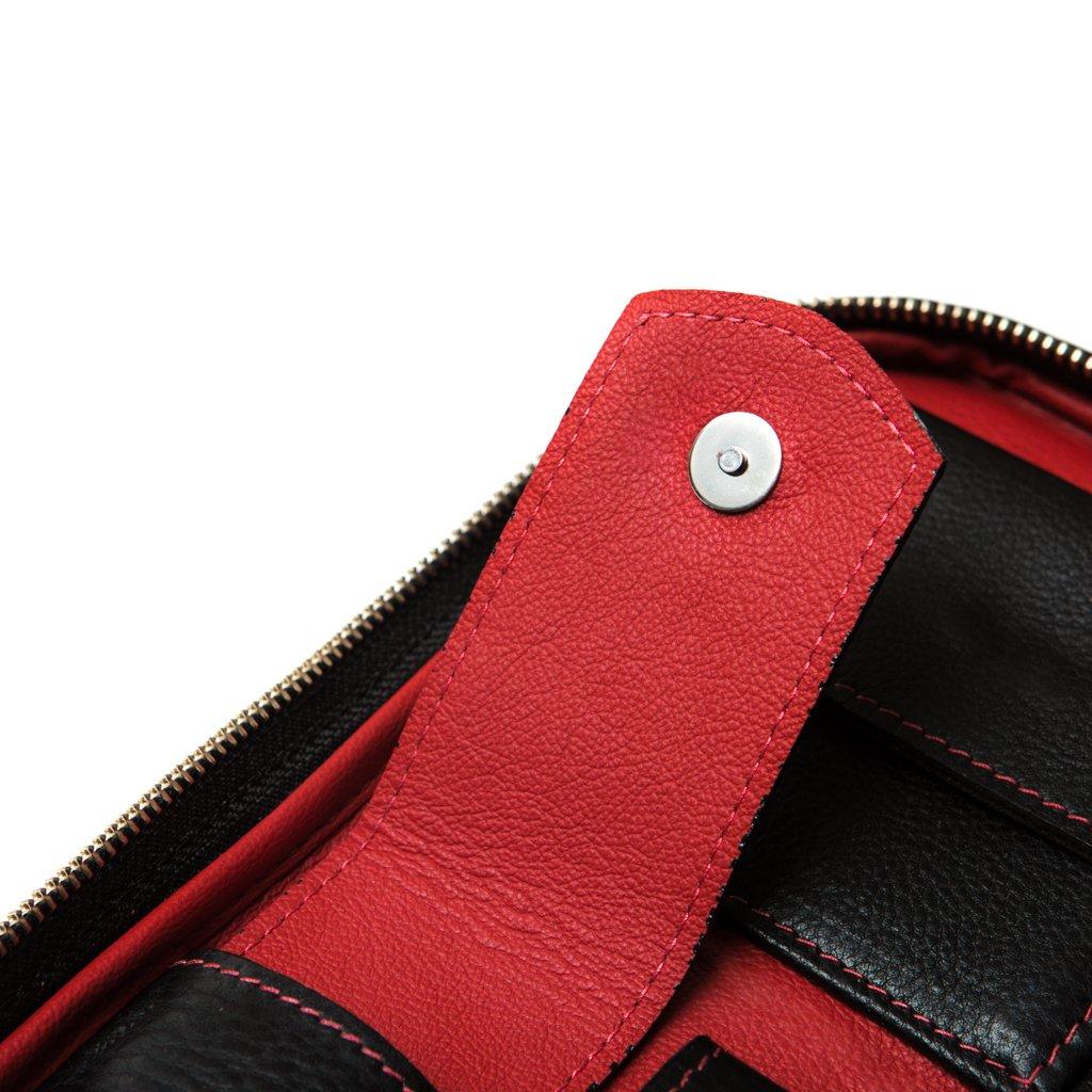 Peter James Red & Black Aficionado Leather Cigar Case