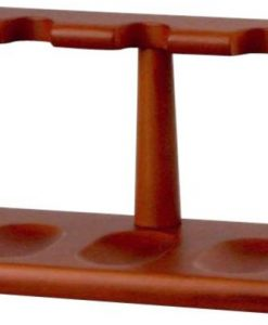 Pipe Stand Wood Honey Colour for 5 Pipes
