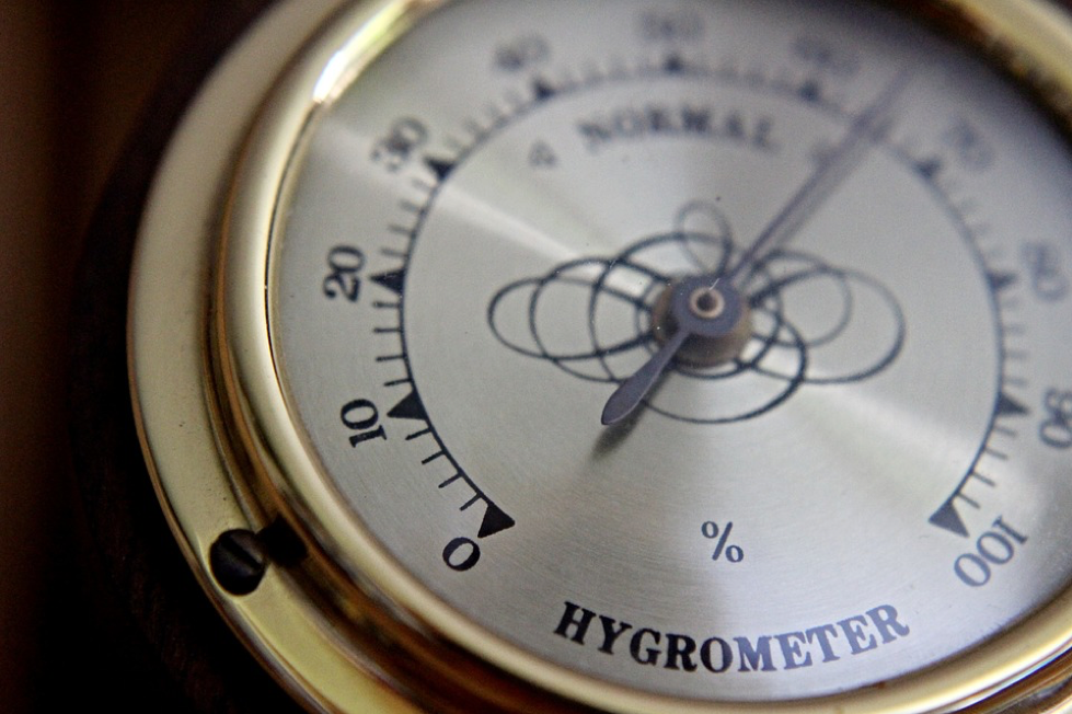 hygrometer in a humidor