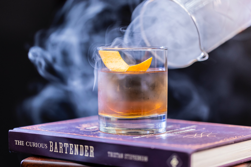 Whisky with smoke
