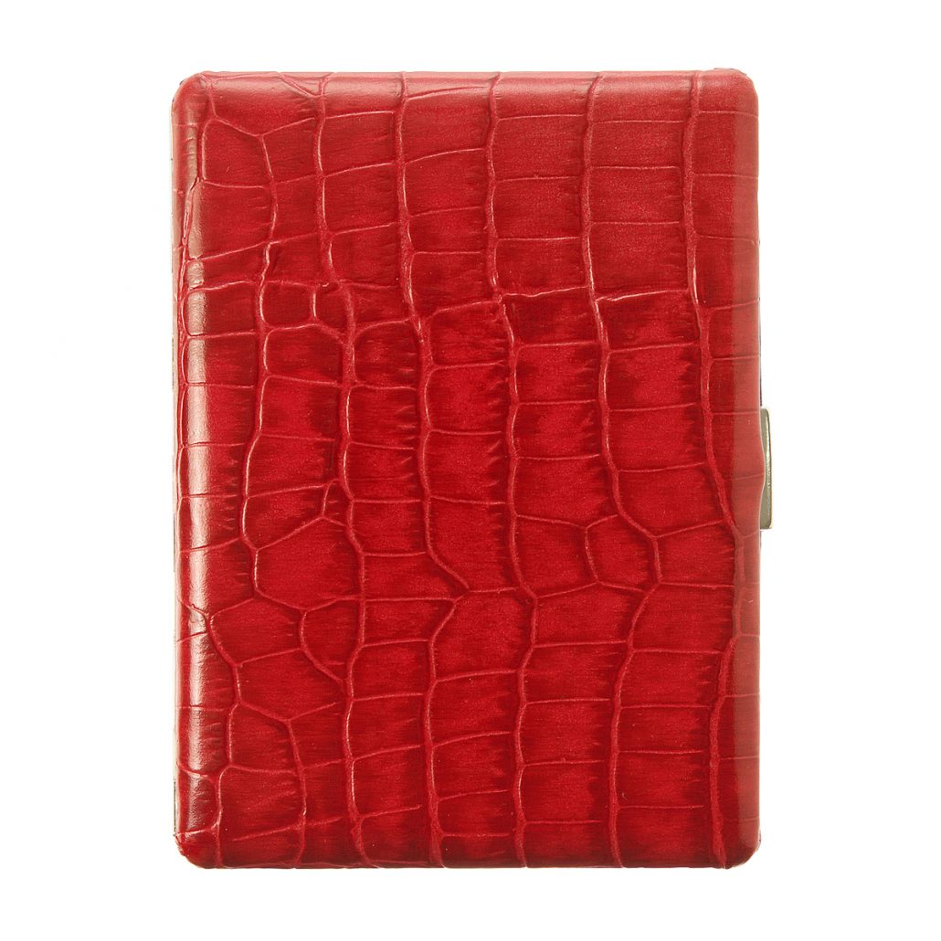 red cigarette case