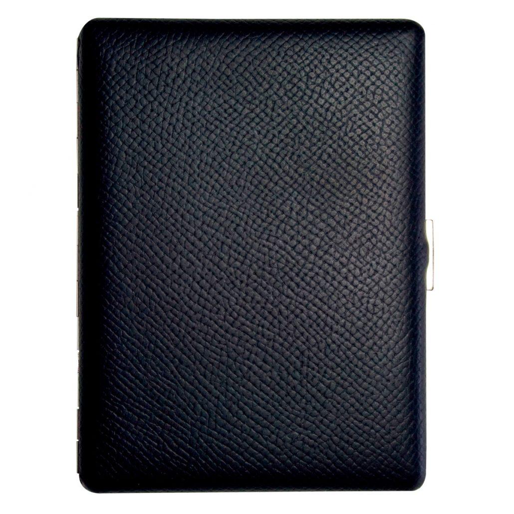 Tsubota Pearl Cosmos Noblesse Cigarette Case - Black