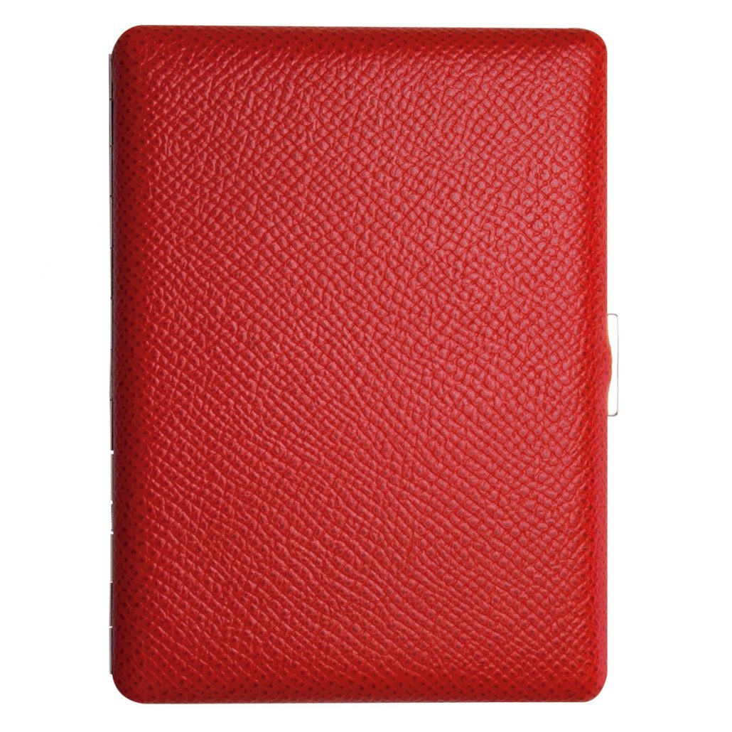Tsubota Pearl Cosmos Noblesse Cigarette Case - Red