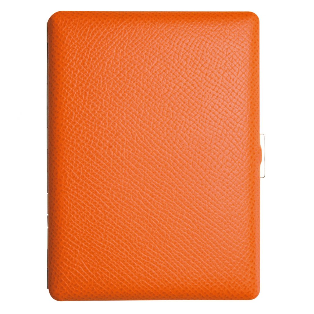Tsubota Pearl Cosmos Noblesse Cigarette Case - Orange