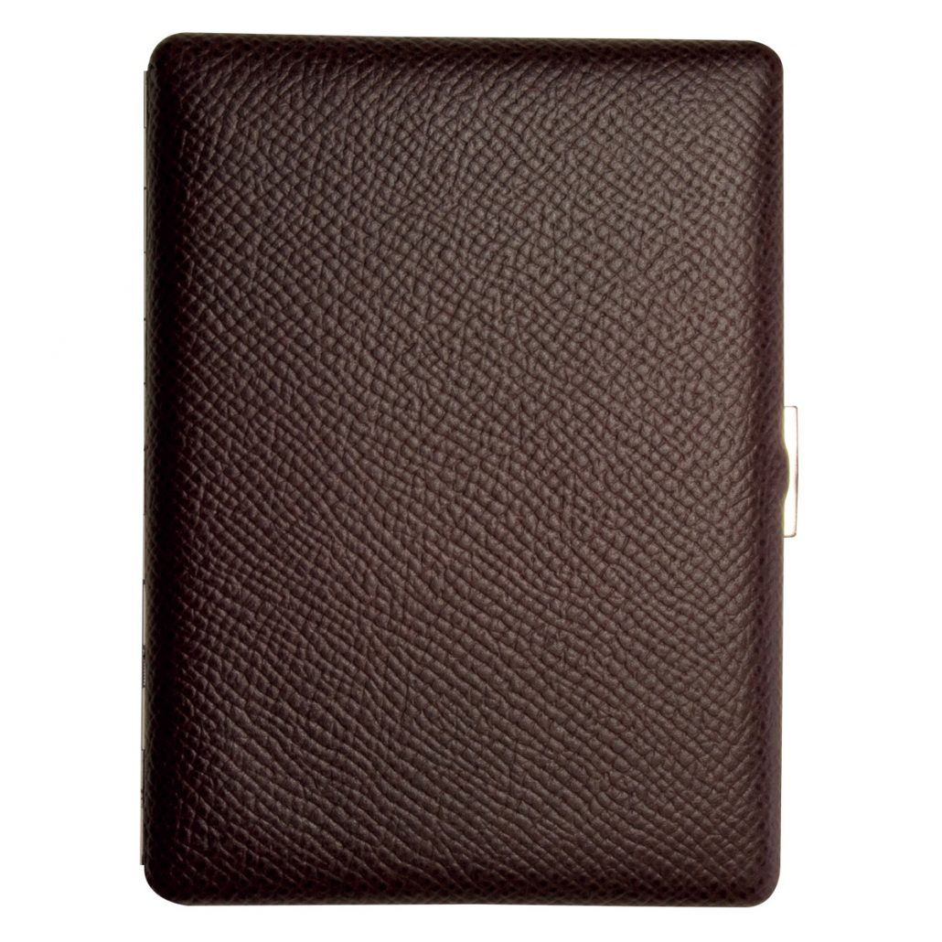 brown cigarette case