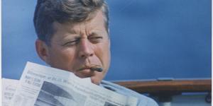 JFK smoking a cigar