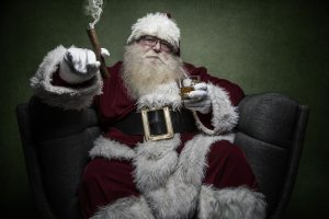 Santa smoking a cigar