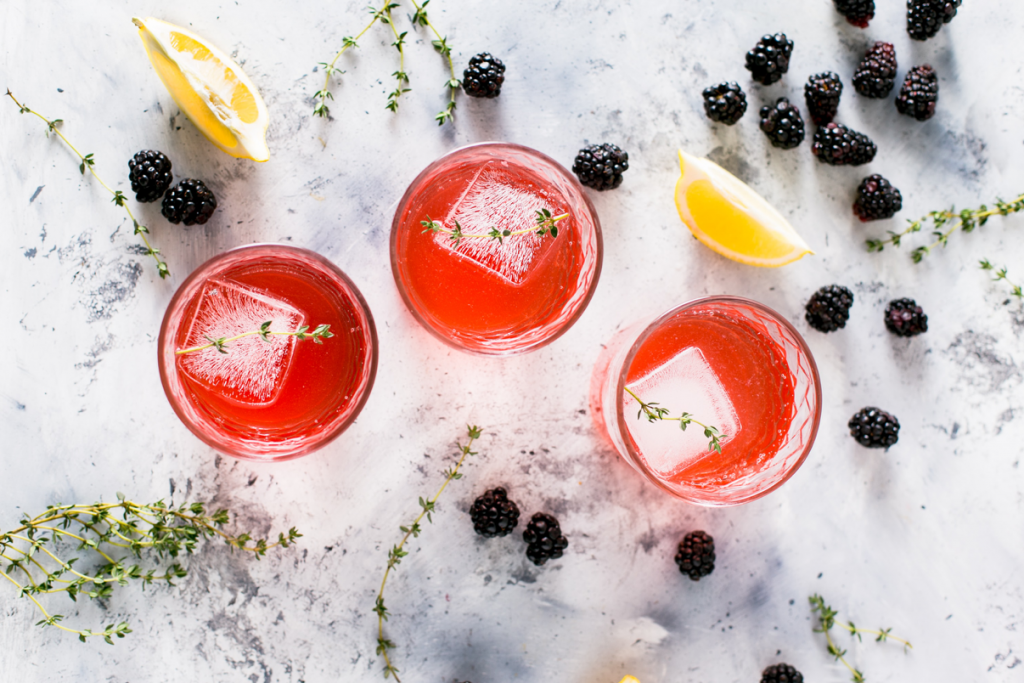 Christmas Fruit cocktails