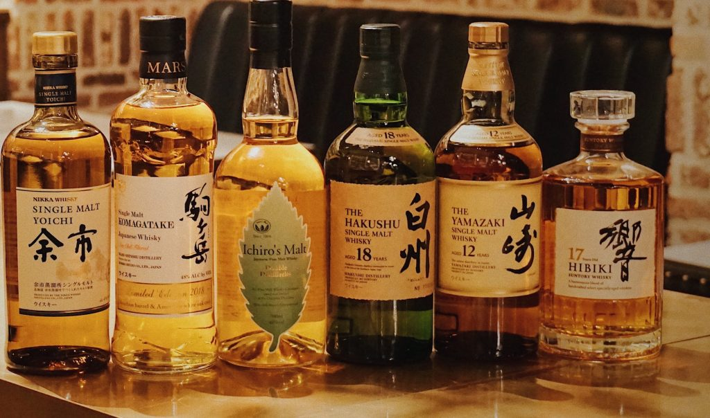 Collection of Japanese whisky