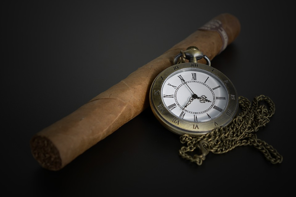Cigar with a watch