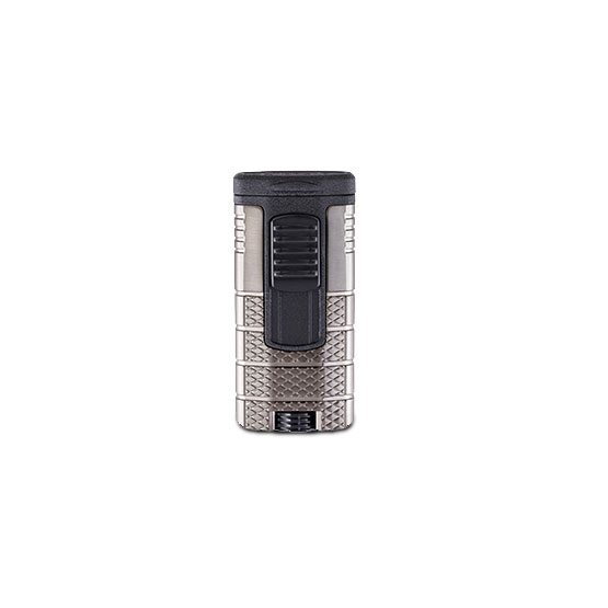 XIKAR-Tactical-Triple-jet-Flame-Lighter-gunmetal-&-black