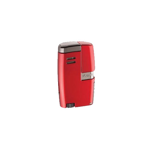 Xikar-Vitara-Double-Jet-Flame-Cigar-Lighter-Daytona-Red