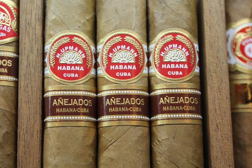 H. Upmann cigars in a box