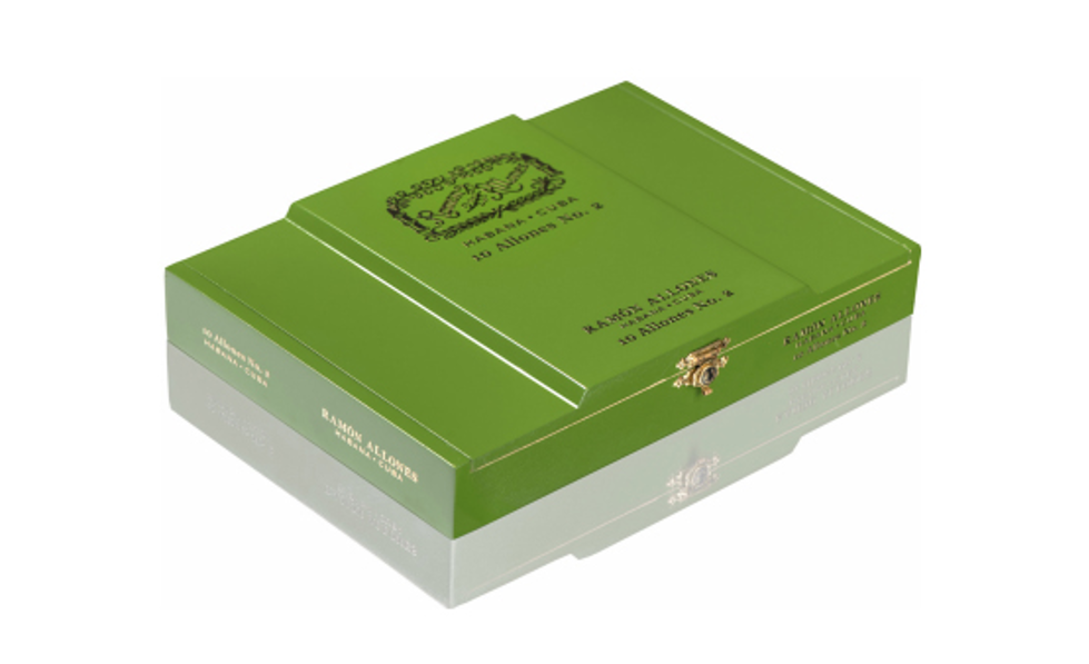 Green box of Ramon Allones Cigars
