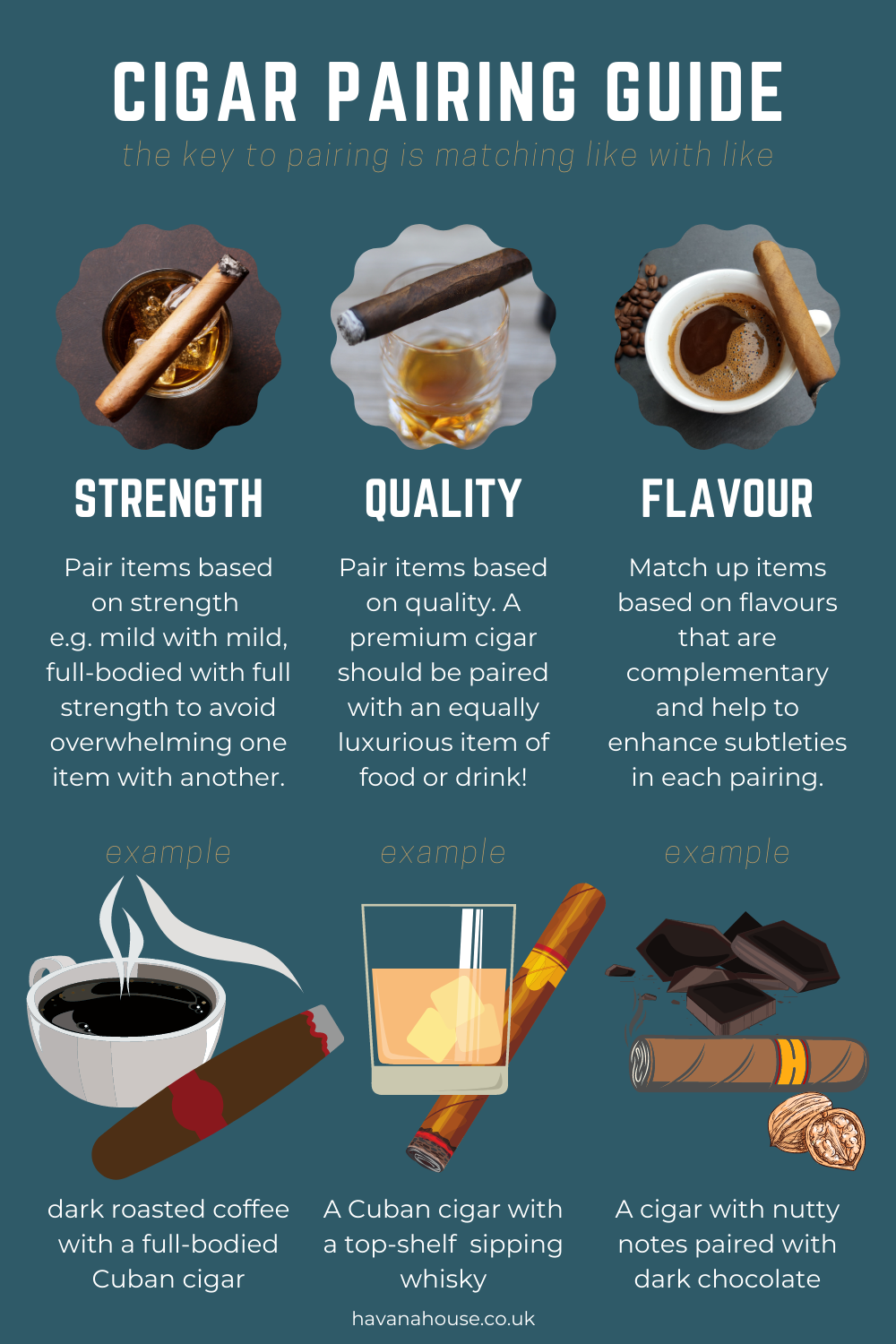 cigar pairing guide infographic