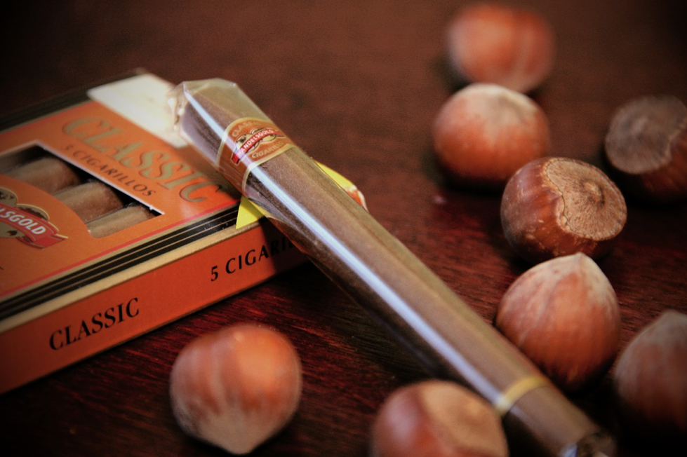 cigar next to conkers