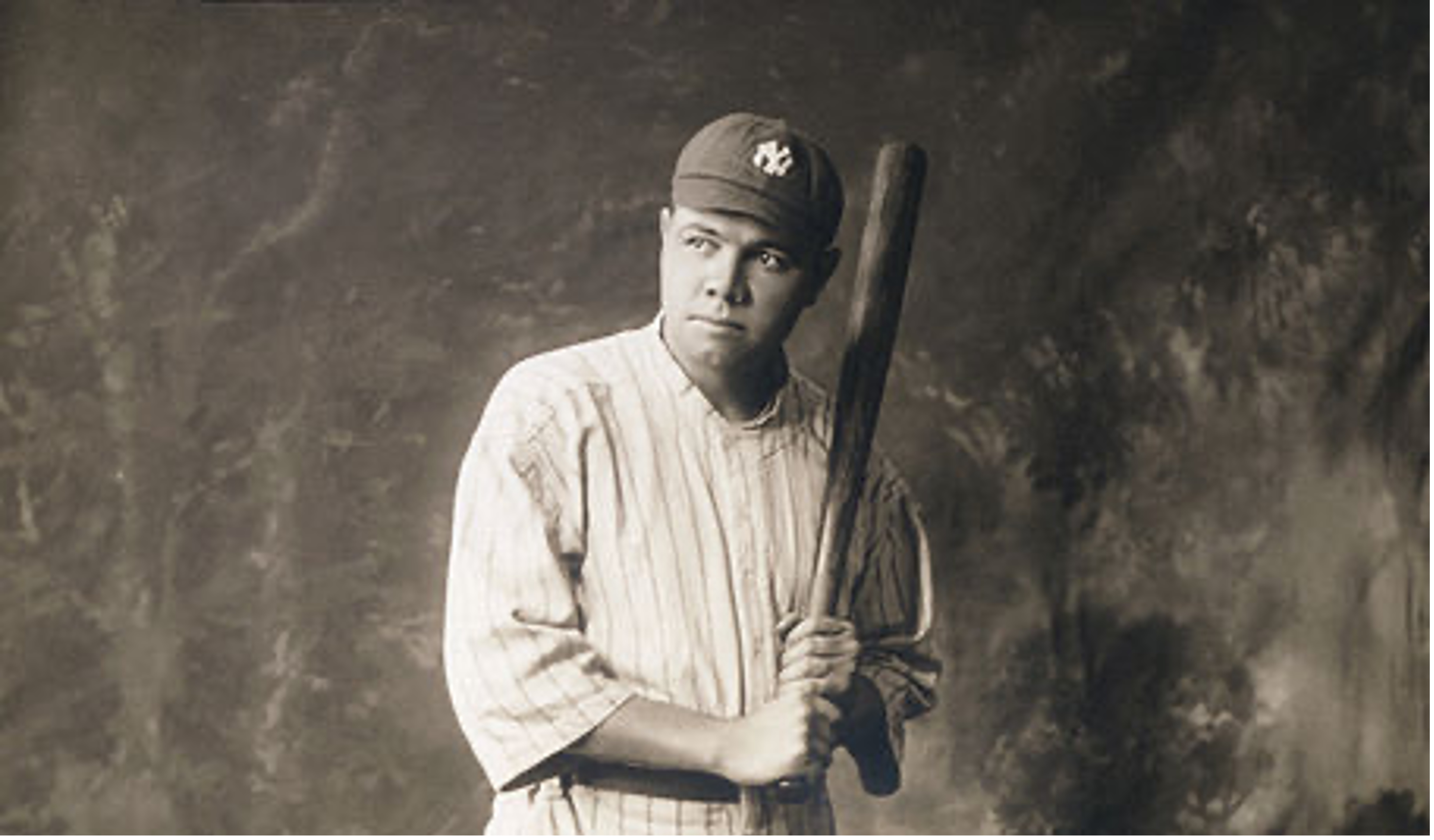Babe Ruth holding a bat