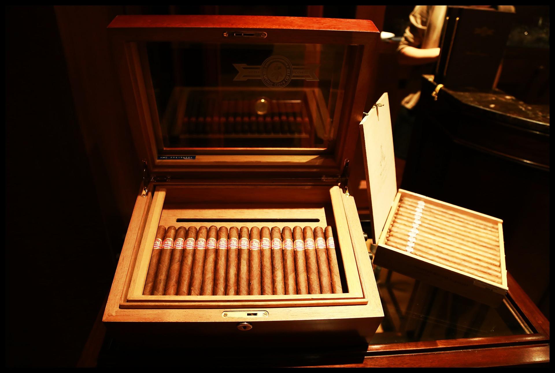 A box of Montecristo cigars
