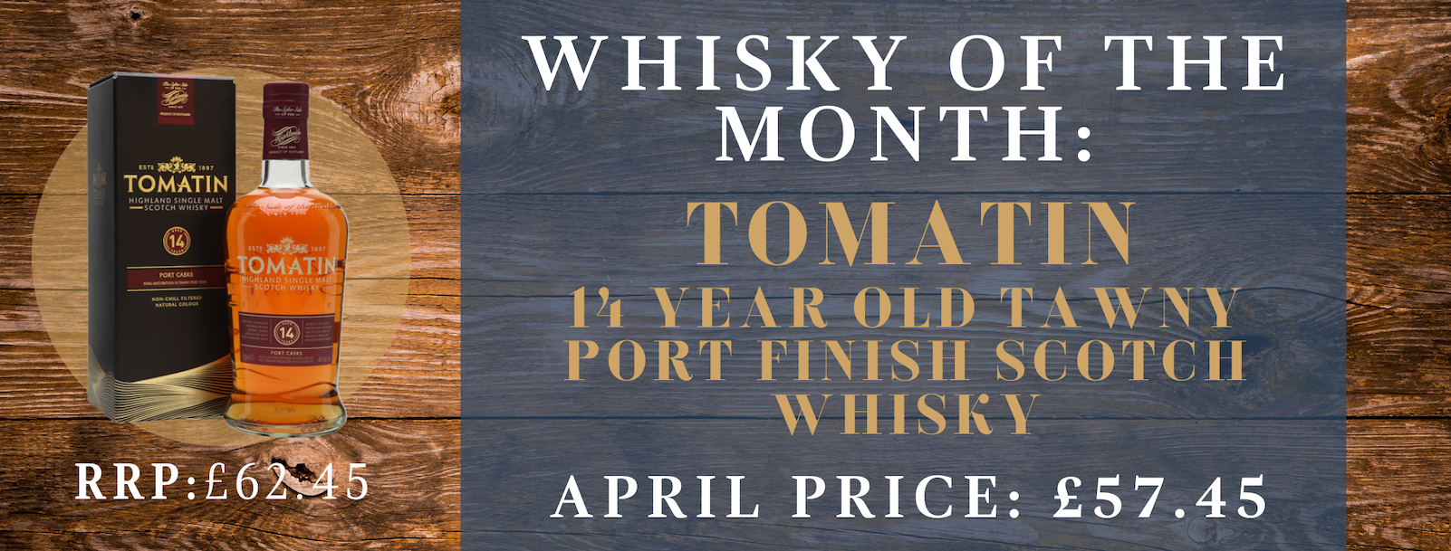 April whisky of the month banner