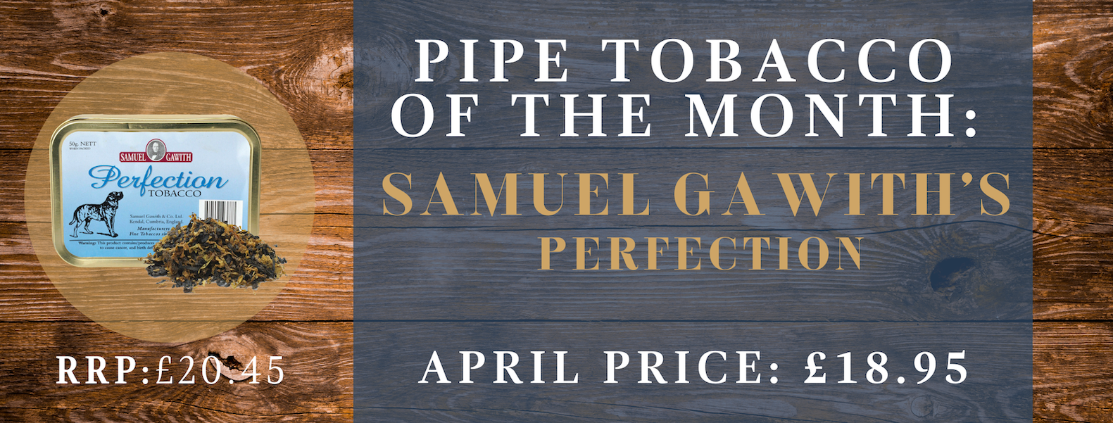 April pipe tobacco of the month banner