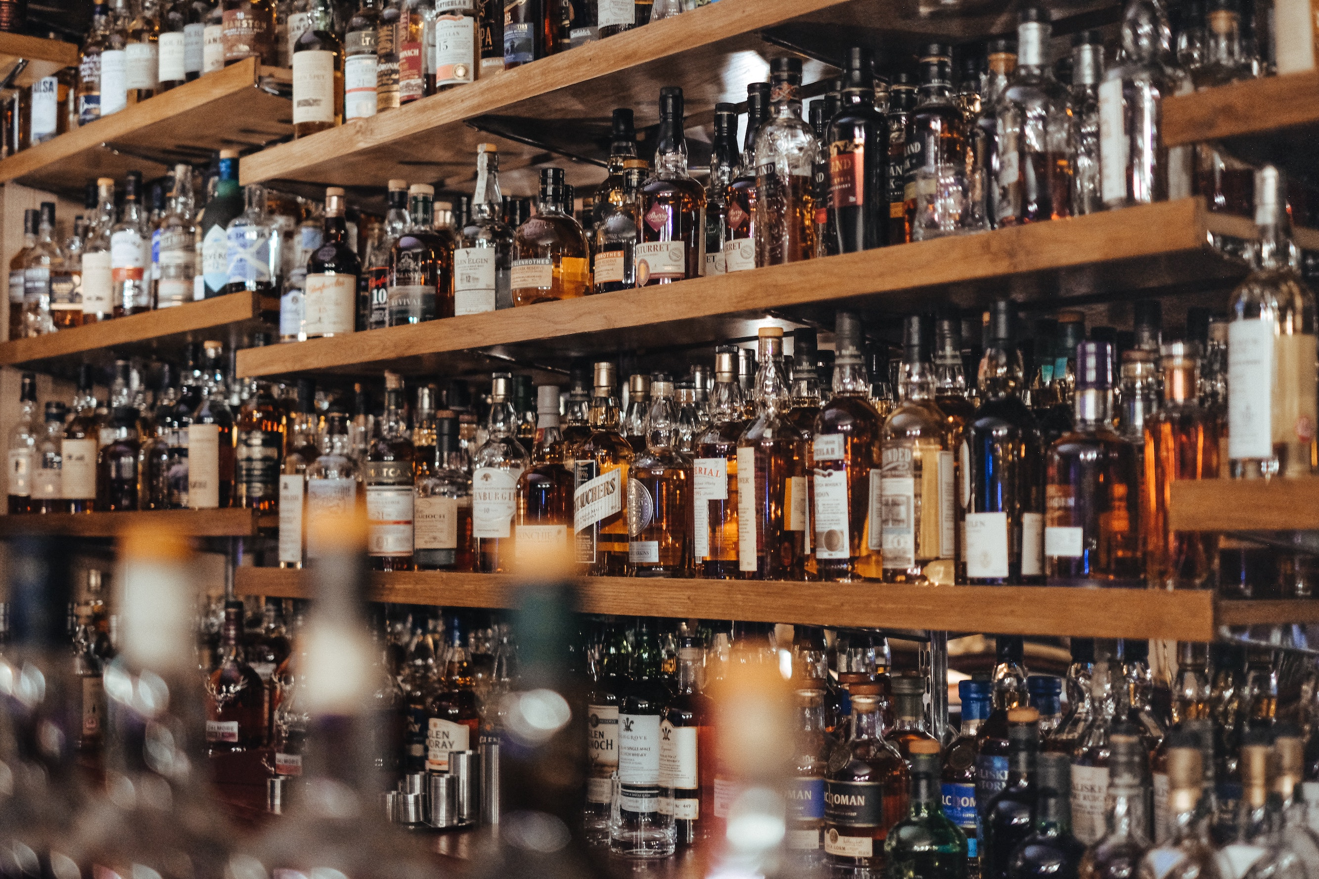 A selection of whisky