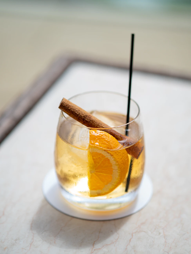 A glass of Cinnamon Old Fashioned