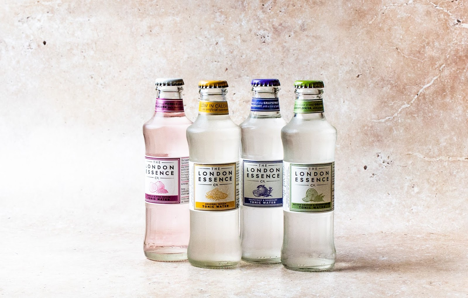Bottles of tonic water