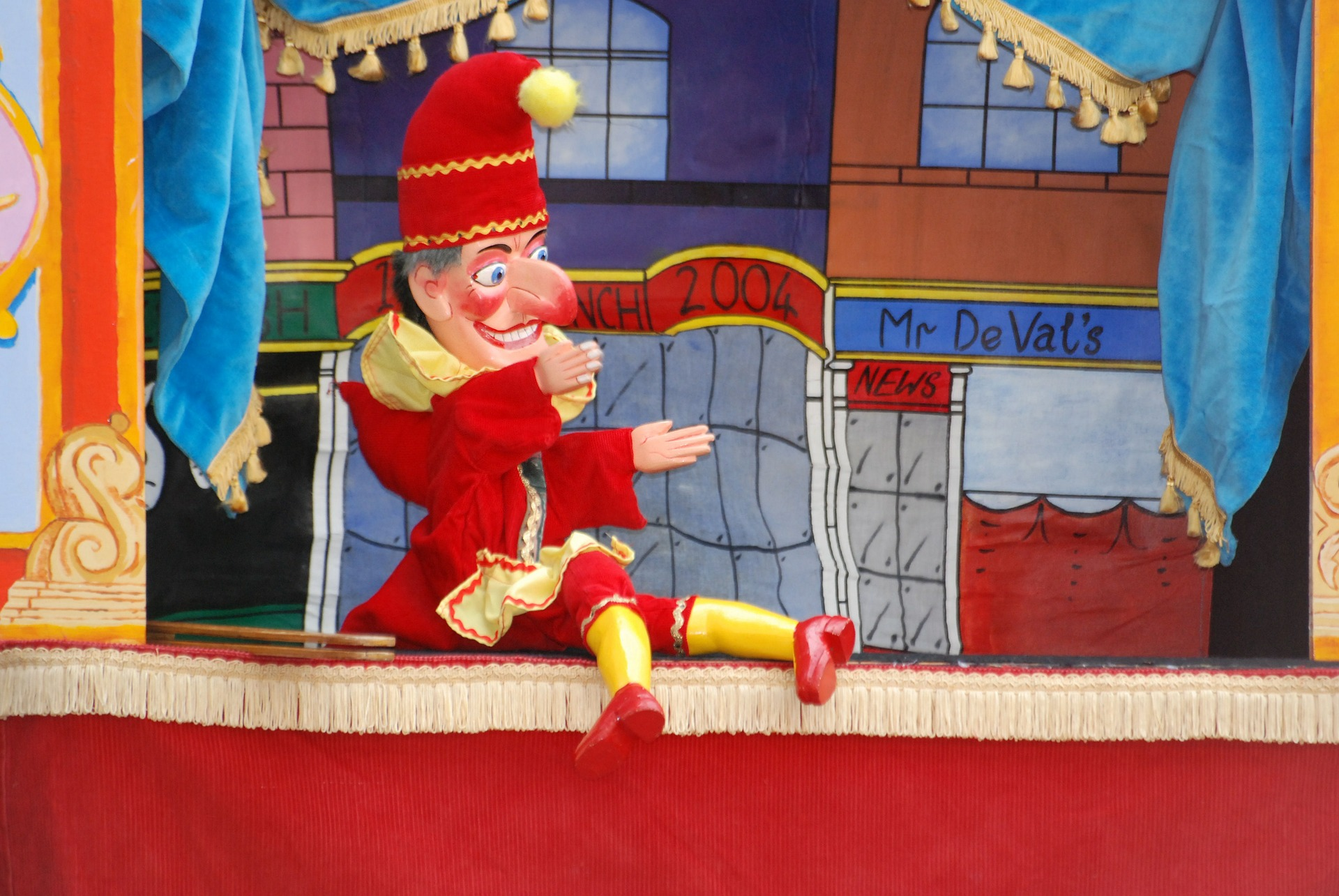 Punch the puppet from Punch and Judy