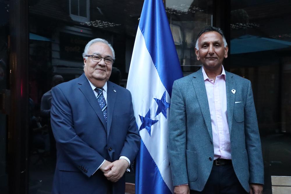 Ambassador of Honduras, H.E. Iván Romero Martínez and Paresh Patel