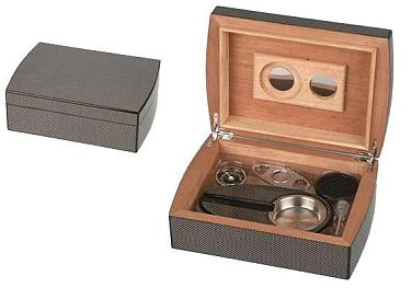Humidor Set Carbon Finish