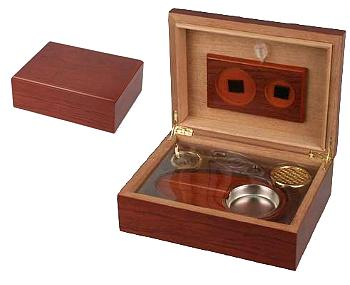 Humidor set Rosewood finish