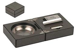 Folding Ashtray - Carbon FinishFolding Ashtray - Carbon Finish